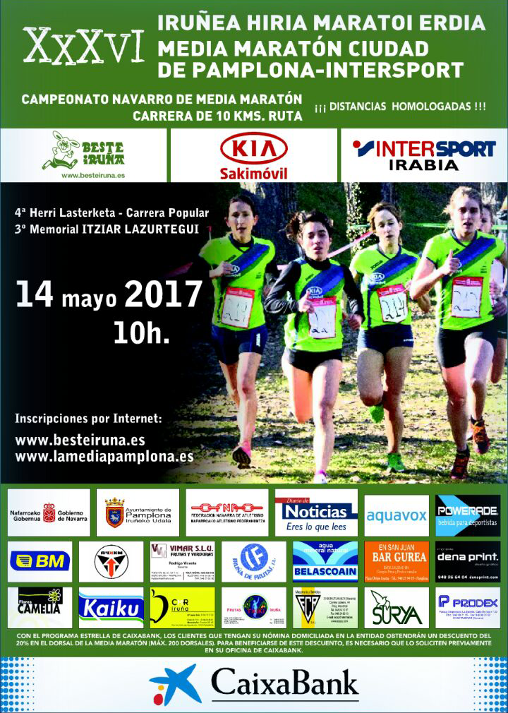 Cartel media maratón de Pamplona